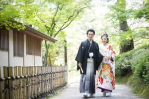 花嫁姿で祖父母が喜ぶ