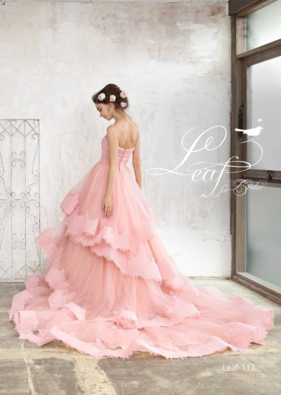 リーフのカラードレス