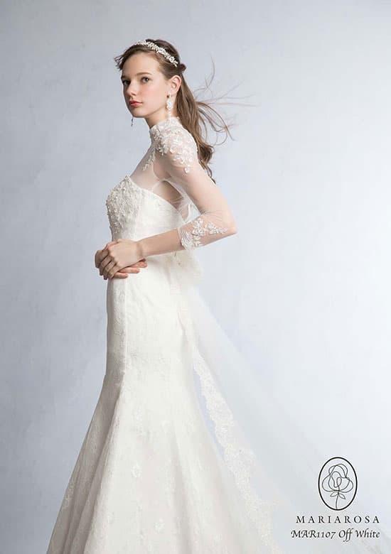 MARIAROSAの長袖ウェディングドレス