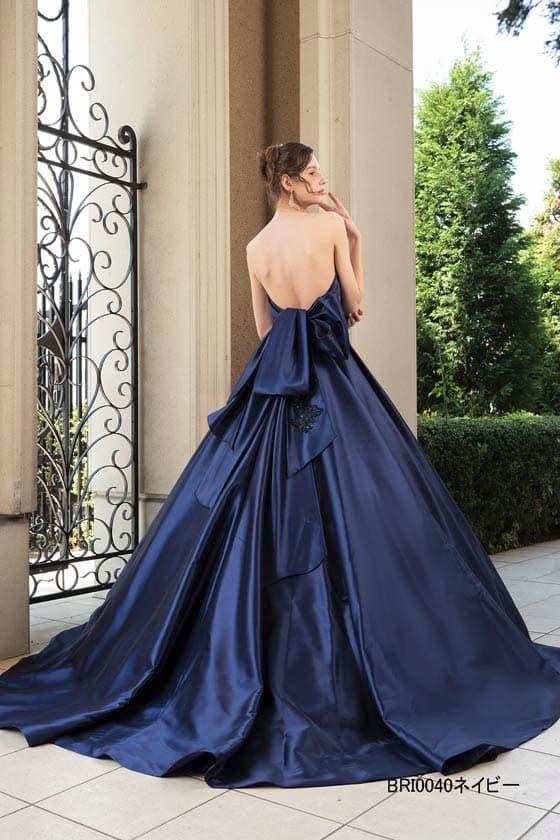 カラードレス ネイビー